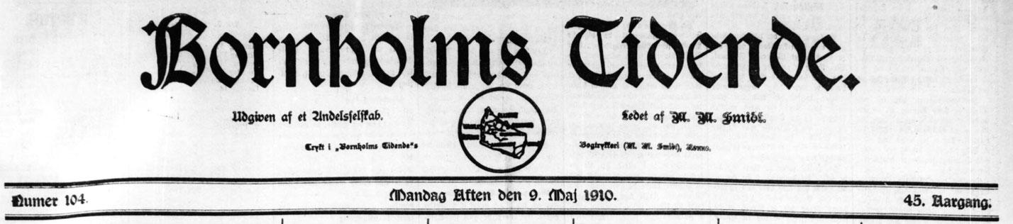 Bornholms Tidende 1910 Mors Dag